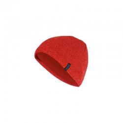 Strickmütze  rot meliert