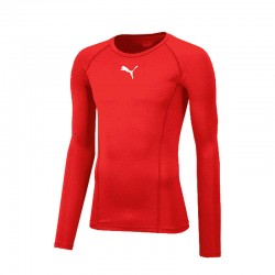 LIGA Baselayer Tee LS Puma Red