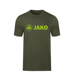 T-Shirt Promo khaki/neongrün